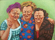 Caricature Painting Originals - Nostalgic Rerun by Karen Roncari