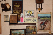 Vintage Sign Prints - Nostalgic Wall In The Cellar Room At the Swiss Hotel In Sonoma California 5D24444 Print by Wingsdomain Art and Photography