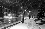 New England Snow Scene Prints - Not a Creature Was Stirring Print by Butch Lombardi