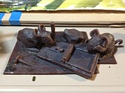 Bronze Sculpture Prints - NOT A GOOD IDEA Edition of 5 pcs. Print by Charlie Spear