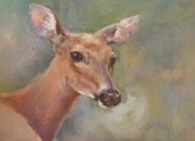Deer Pastels - Not Doe Day by Debbie Anderson