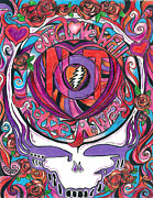 Psychedelic Drawings Posters - Not Fade Away Poster by Kevin J Cooper Artwork