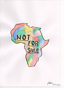 Slavery Painting Prints - Not For Sale Print by Sofia Albidir