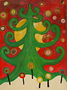 Xmas Painting Originals - Not just for christmas by Sarah Dawson-Spackman