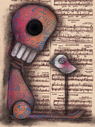 Pop Surrealism Painting Posters - Not really Alone Poster by  Abril Andrade Griffith