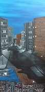 City Scape Paintings - Not scared by Cynthia Browning