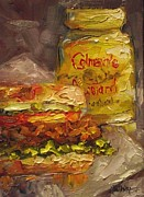 Hamburger Paintings - Not Without Mustard by Angela Sullivan