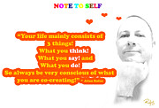 Positive Attitude Posters - Note to Self 3 Things Poster by Allan Rufus