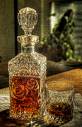 Sparkle Pyrography Posters - Nothin Like A Little Bourbon Poster by John Kain