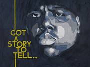 Notorious B.i.g Painting Originals - Notorious BIG - Biggie Portrait by Andre Woolery