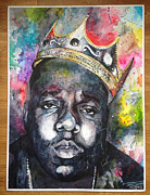 Hiphop Paintings - Notorious B.I.G by Monisha Rockett