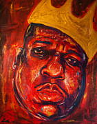 Hiphop Paintings - Notorious Legend by Chuck  Styles