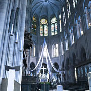 Medieval Temple Art - Notre Dame Altar Teal Paris France by Evie Carrier