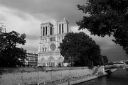 Black And White Paris Posters - Notre Dame de Paris 2b Poster by Andrew Fare