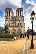 French Gothic Architecture Posters - Notre Dame de Paris Reaching For The Sky Poster by Mark E Tisdale