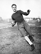College Sports Prints - Notre Dame Football Player Print by Underwood Archives