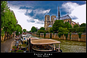 Catholic Icon Framed Prints - Notre Dame in Paris Framed Print by Dany Lison