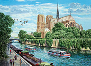 Adult Digital Art Prints - Notre Dame Print by MGL Meiklejohn Graphics Licensing