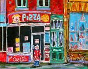 Michael Litvack Art - Notre Dame Pizza by Michael Litvack