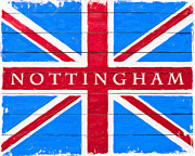 Jacks Digital Art - Nottingham Vintage Union Jack Flag by Mark E Tisdale
