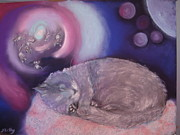 Outer Space Paintings - Noumis Dream by Jill Kelly