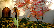 Photographic Art Paintings - Nova Cynthia In The Garden of Delights by Nova Cynthia Barker Priest
