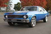 1968 Camaro Photos - Nova in Blue by Kenneth Russell