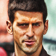 Novak Djokovic Print by Nishanth Gopinathan