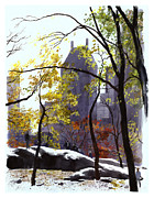 Nyc Mixed Media - November by Clifford Faust