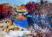 Wisconsin Landscape  Painting Originals - November Primaries by Kris Parins