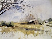 Winter Roads Originals - November Snow by Sandra Strohschein