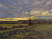 Gregory Arnett Painting Framed Prints - November Sunset Framed Print by Gregory Arnett