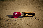 Baseball Cap Digital Art Prints - Now Pitching for the Phillies Print by Bill Cannon