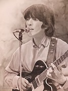 George Harrison Painting Metal Prints - Nowhere Man Metal Print by Robert Hooper
