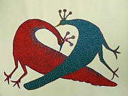 Gond Tribal Art Paintings - Ns 47 by Nankusia Shyam