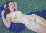 Nudes Paintings - Nu 11 by Leonid Petrushin