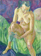 Nudes Paintings - Nu 8 by Leonid Petrushin