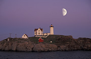 Nubble Lighthouse Framed Prints - Nubble Light Framed Print by Christian Heeb
