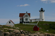 Nubble Light House Prints - Nubble Light House York Maine Print by Denyse Duhaime