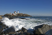 Nubble Lighthouse Originals - Nubble Light in January by Gordon Ripley