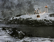 Betty Denise - Nubble Light Stormy Night