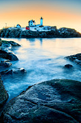 Nubble Lighthouse Framed Prints - Nubble Light Framed Print by Thomas Schoeller