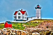 Nubble Lighthouse Cape Neddick Maine 2 Print by Glenn Gordon