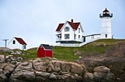 Nubble Lighthouse Posters - Nubble Lighthouse Cape Neddick Maine 3 Poster by Glenn Gordon