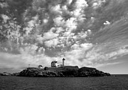 Nubble Lighthouse Posters - Nubble Lighthouse Poster by Daniel Woodrum