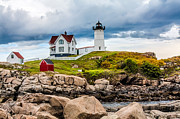 Nubble Lighthouse Framed Prints - Nubble Lighthouse Framed Print by Fred Larson