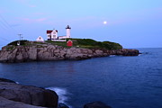 Sohier Park Framed Prints - Nubble Lighthouse Island Framed Print by Aaron Edrington