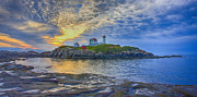 Safe Haven Posters - Nubble Lighthouse Pano Poster by Jack Nevitt