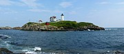 Nubble Lighthouse Prints - Nubble Lighthouse Print by Photographic Arts And Design Studio