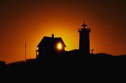 Nubble Lighthouse Sunrise Starburst Print by Scott Thorp